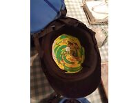 Charles Owen black felt riding hat with case barely used