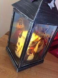 Frozen light up candle LED lantern ) battery operated )..any designs can be made