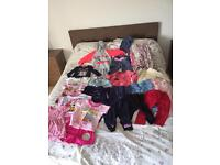 Toddler girls clothes bundle 1-2 years, 30 items