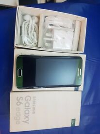 Samsung S6 edge green 32gb unlocked boxed mint condition