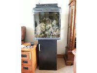 Kent Marine Bio Reef 94L with Black stand, LED Lighting and External filter. Ideal starter kit