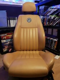 Tan leather seats