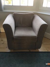 2 Seater Fabric Sofa and Matching Armchair