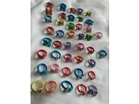 Over 160 items. Children's rings, bags, lip balm and bunny ear hair bands