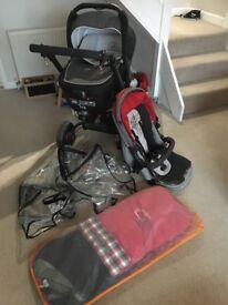 Jane Rider pushchair and carrycot