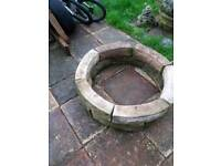 Victorian style stone ornate fishpond surround