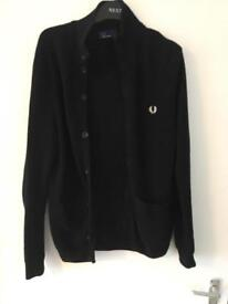 Men's Fred Perry knitted cardigan jumper