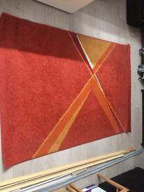 Orange carpet 170 X 117 cm