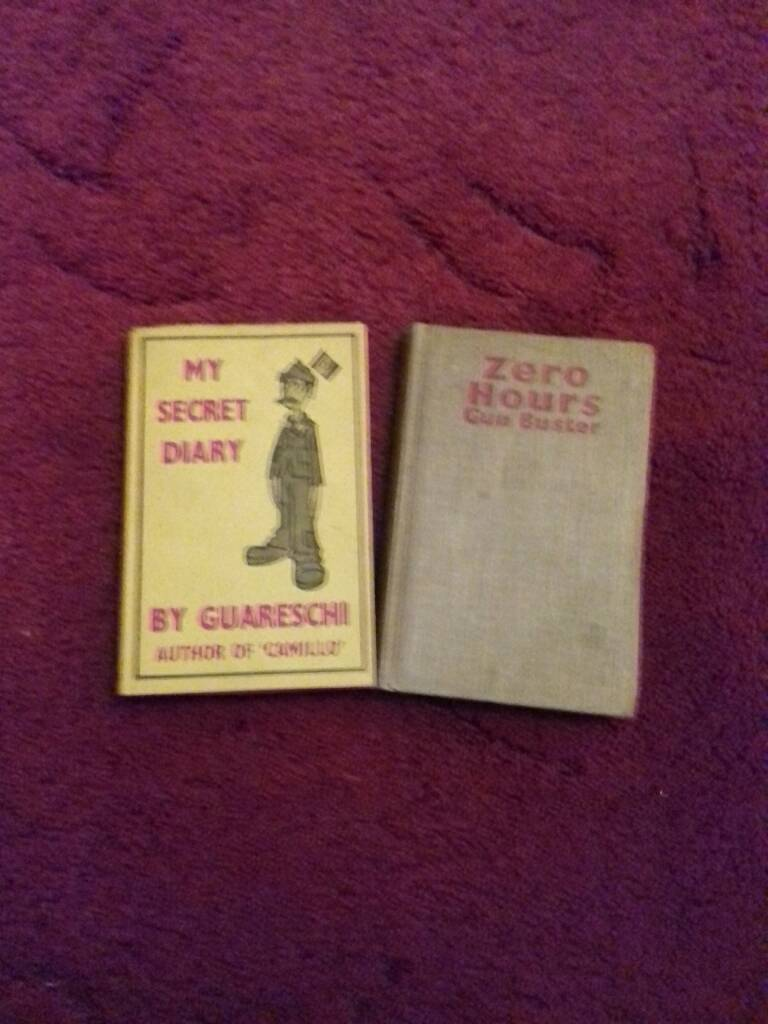 Two books, My secret Diary and Zero Hoursin Morden, LondonGumtree - Two war books See photos for the condition 1942 and 1958 one with yellow dust jacket both hardbacks.Contact Richard for more information and postage details