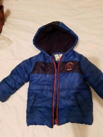 Mothercare boys coat age 2-3