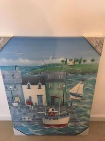 Harbour canvas art print brand new