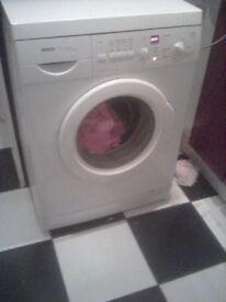 White bosch washing machine