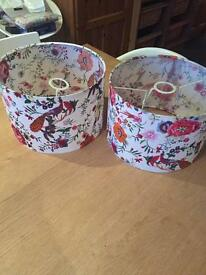 Pair of light/ lampshades
