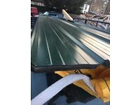 New Galvanised green roof sheets 11ft long 1 meter wide 3 flashings