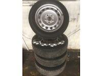 "2012 Mini Countryman 16"" steel wheels and tyres £100.00 5 stud"