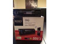 Sony Digital Media Player Radio Hands free calls Bluetooth USB Aux DSX--A60BT +remote, ipod iphone