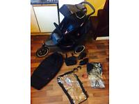Phil & teds Sports double buggy pram excellent bundle