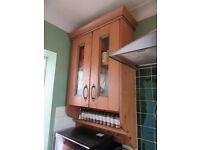 Solid Oak Kitchen Wall Cabinet
