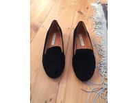 & OTHER STORIES Black Suede Loafers (new)