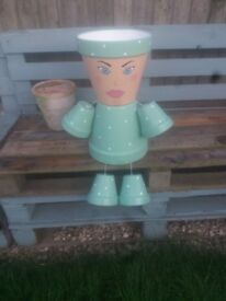 Plant pot lady. Planter/garden/flowers/outdoors