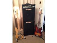 "Ashdown Rootmaster Mag 420 15"" combo with Ashdown 2 x 12 ext Cab plus footswitch"