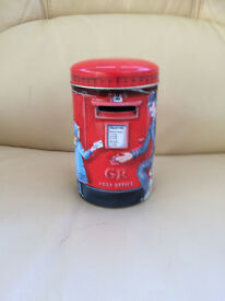 New - money box with post office scene