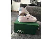 Brand new Lacoste infant trainers size UK 4