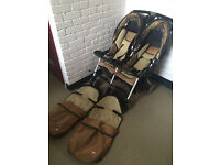 Combi Twin Cosmo Double Pushchair Lightweight compact fold