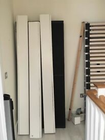 White Super Kingsize Bed Frame with Black Headboard