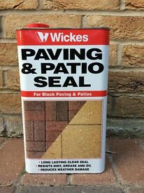 5 Litre Can of Wickes Paving and Patio Seal - Unopened