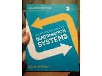 An Introduction To Information Systems by David Whiteley for sale