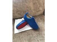 Christian louboutin blue spike used once size8