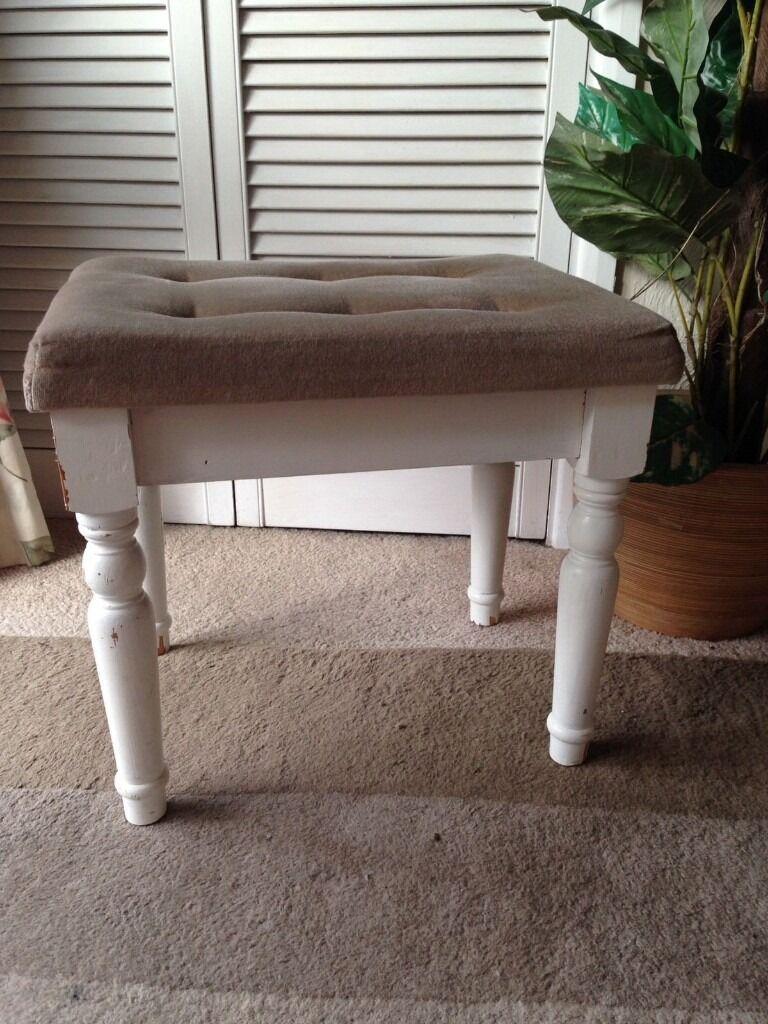 Retro beige dressing table boudoir vanity stool piano stool retro beige dressing table boudoir vanity stool piano stool shabby chic geotapseo Gallery