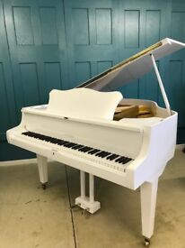 White Baby grand piano | Belfast Pianos | Free Delivery| Belfast