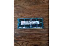 SO-DIMM RAM - 4GB DDR3 Hynix 1333MHz