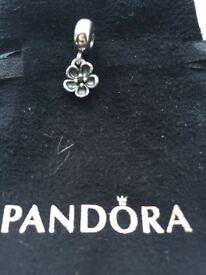 Pandora dangle flower charm