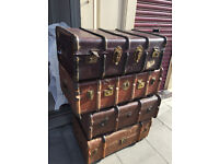 Various trunks , various colours and sizes . £60 each ... Great as coffee tables with storage....