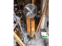 Crome free standing fan