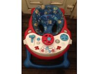 Baby walker with musical tray