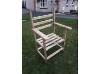 Hand made garden chair