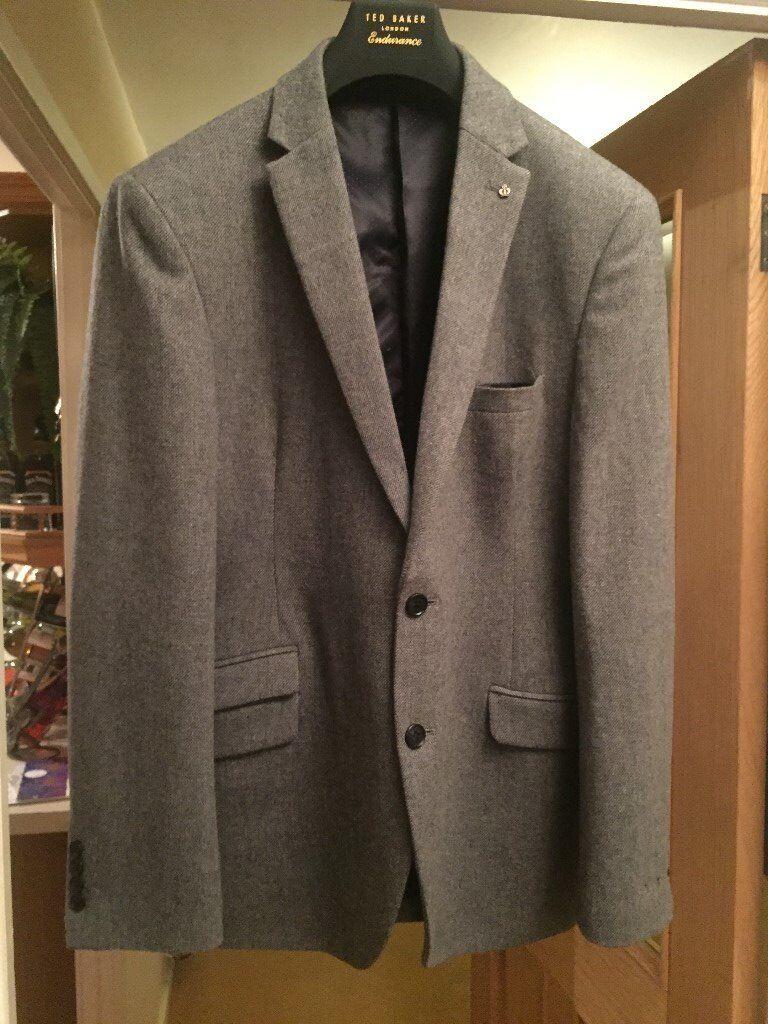 """Jeff Banks grey blazer size 46"""" chest"""