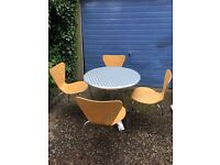 Cafe table and chairs - excellent build and condition