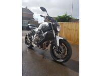 Yamaha mt 07 abs white £4600