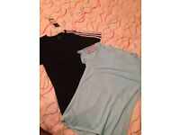 Adidas t-shirts brand new size small climilite