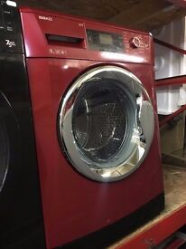 BEKO 9KG 1400 SPIN A++ WASHING MACHINE RED RECONDITIONED