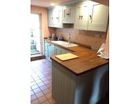 complte hand made kitchen for sale. it has been demounted and is ready for collection