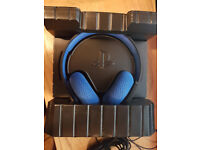 PS4 Official Sony PlayStation Silver Wired Stereo Headset - Black