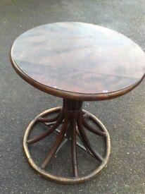 LUXURIOUS DESIGNER TABLE - DARK WOOD - 60 CENTIMETRES DIAMETER - 72 CENTIMETRES HIGH -