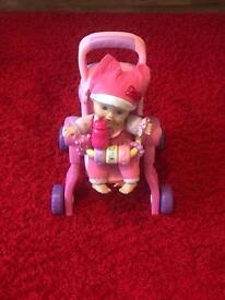 Vtech pushchair and doll
