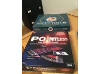 'Pointless' and 'About Time' boardgames